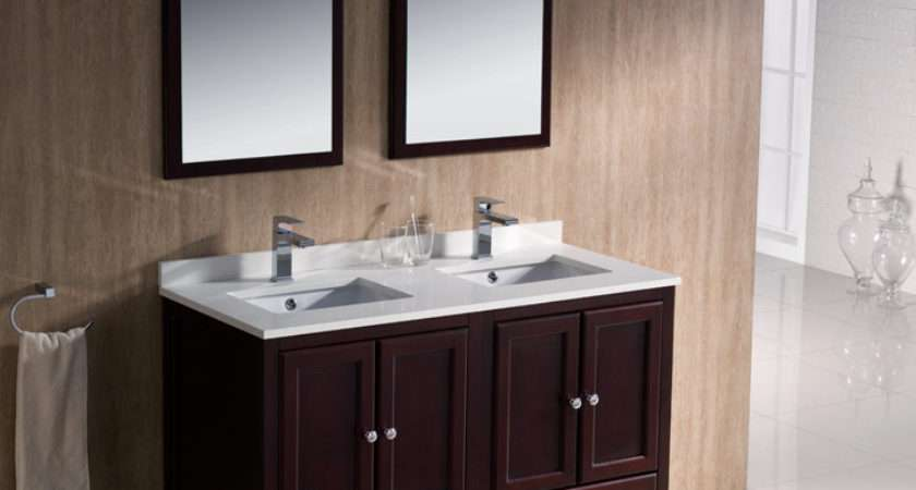Traditional Vanity Bathroom Small Double Built