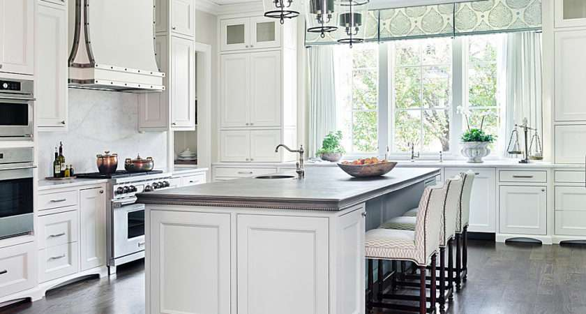 Traditional White Kitchen Painted Sherwin Williams
