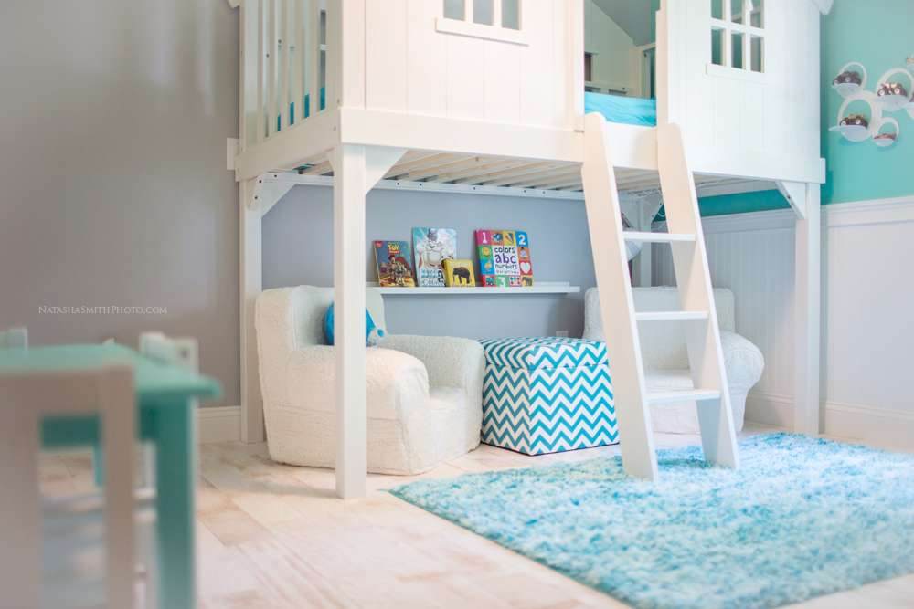 Turquoise Blue White Boys Room Design Dazzle