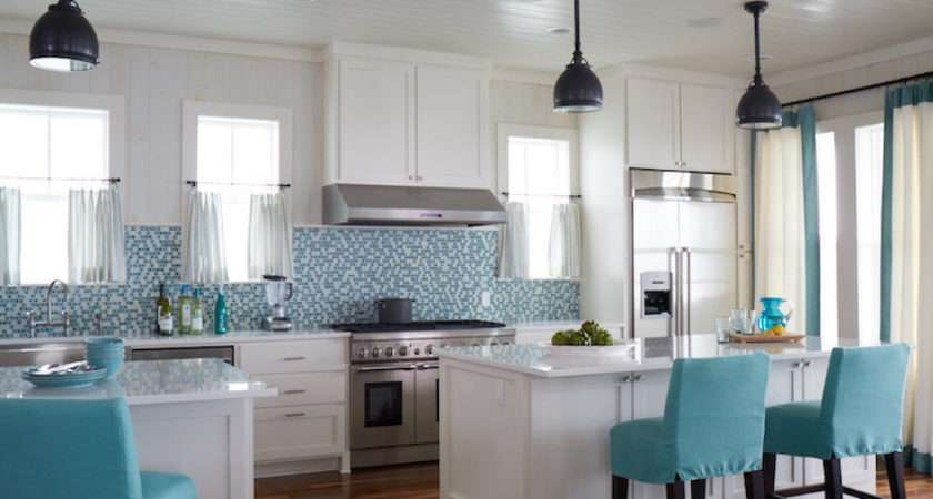 Turquoise Kitchen Design Cottage Tracery