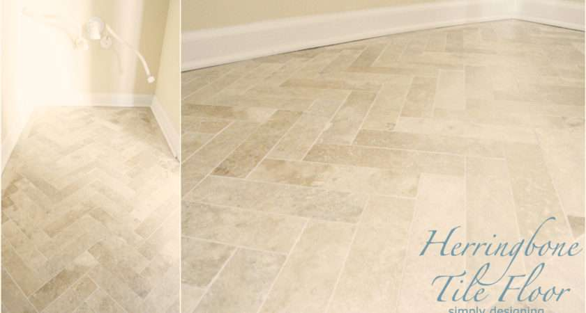 Tutorial Laying Tile Flooring Herringbone