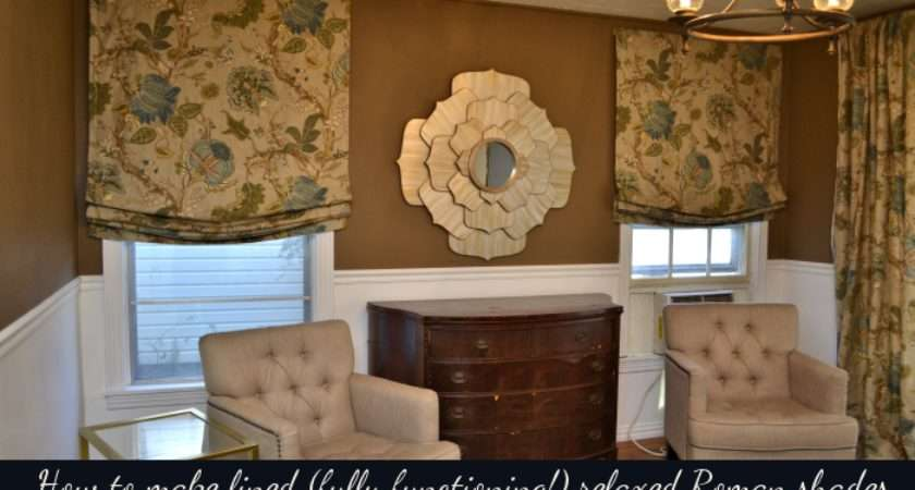 Tutorial Make Lined Fully Functioning Relaxed Roman Shades