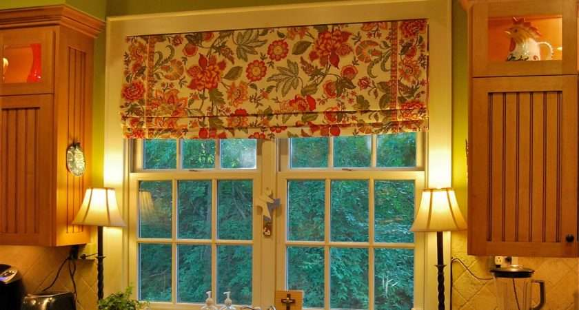 Tutorial Making Faux Roman Shade Using Fabric Tension Rods