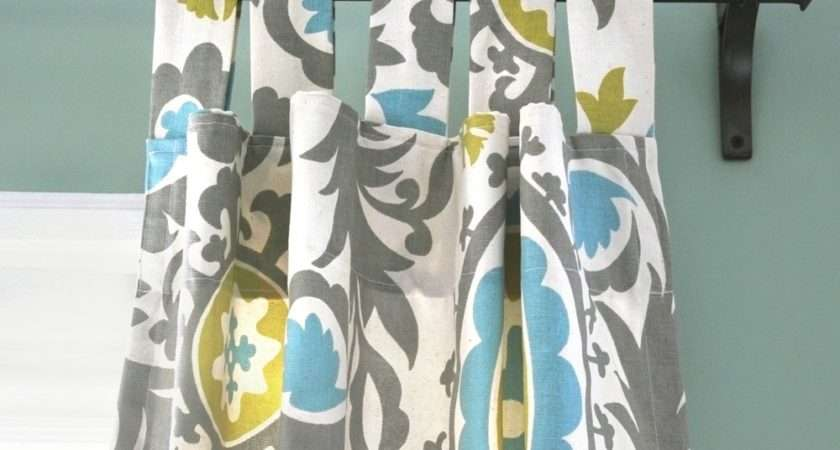 Tutorial Shows Make Tab Top Curtains They Slide Open