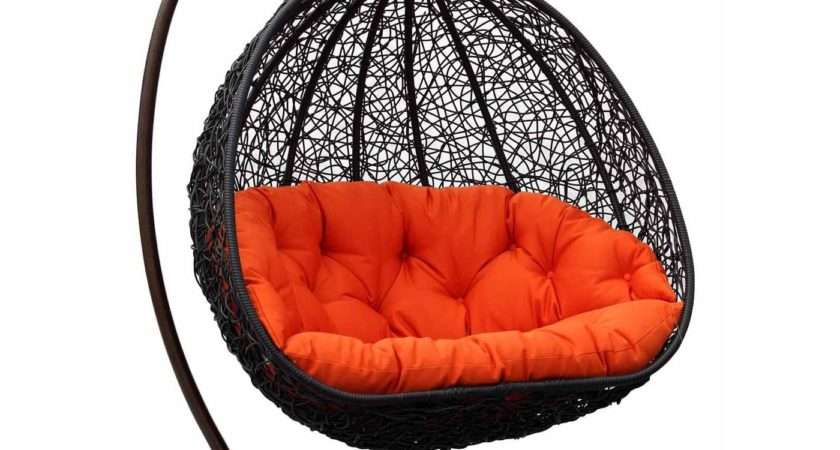 Two Can Curl Dual Sitting Outdoor Wicker Swing