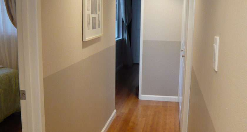 Two Tone Hallway Almost Went Pretty Green