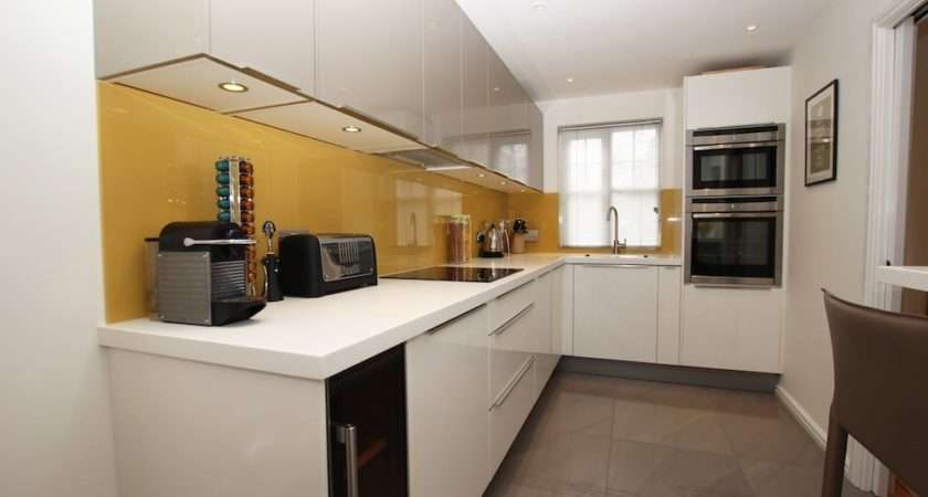 Two Tone Shaped Kitchen Design