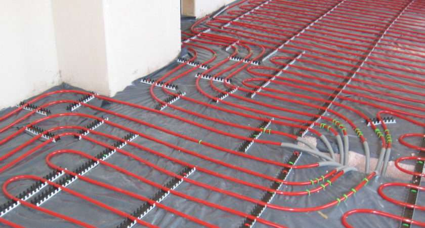 Underfloor Heating Pipes Before They Covered Screed