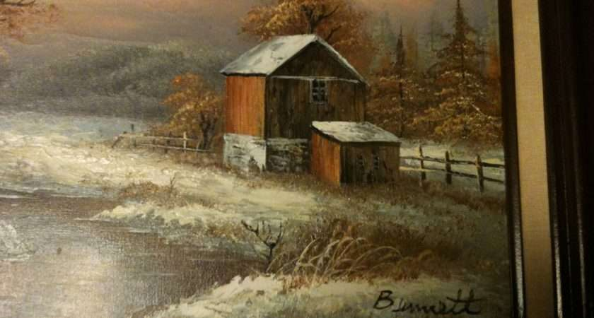 Unknown Outdoors Country Style Oil Painting Antique Appraisal