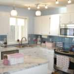 Updating Kitchen Cabinets White Color Marble Countertop