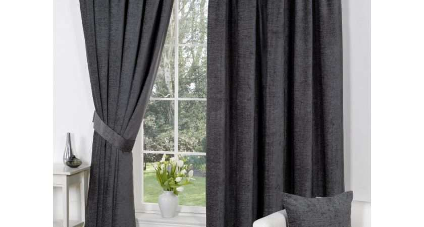 Urban Living Heather Chenille Grey Pencil Pleat Readymade
