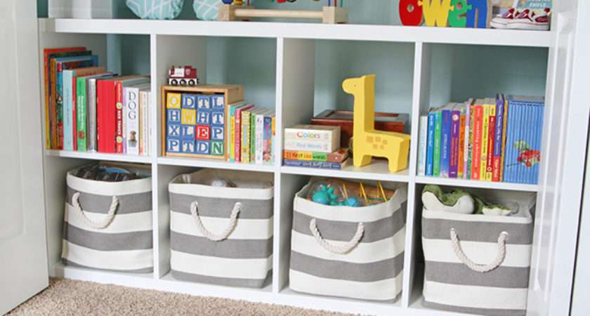 Used These Bins Four Lower Cubbies Hold Various Toys