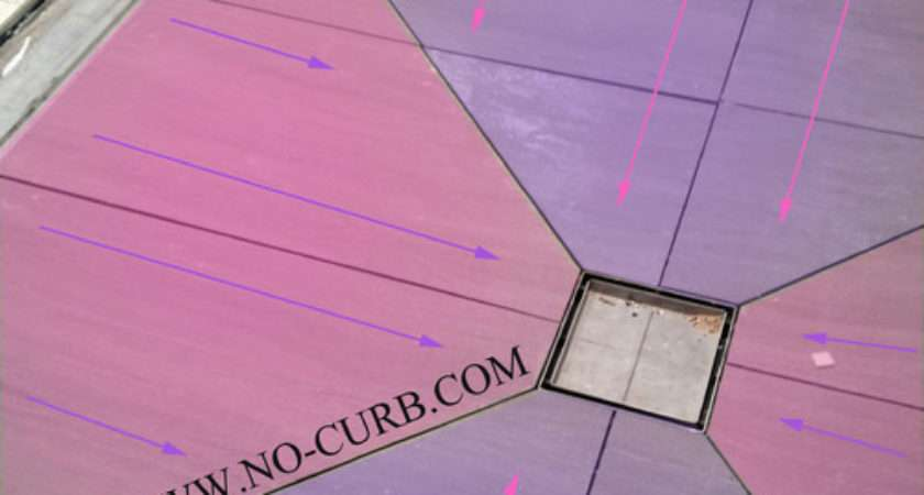 Using Diagonal Cuts Slope Your Shower Floor Planning