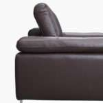 Valencia Espresso Brown Leather Corner Sofa Left Hand Facing