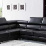 Valencia Midnight Black Leather Corner Sofa Left Hand Facing Ebay