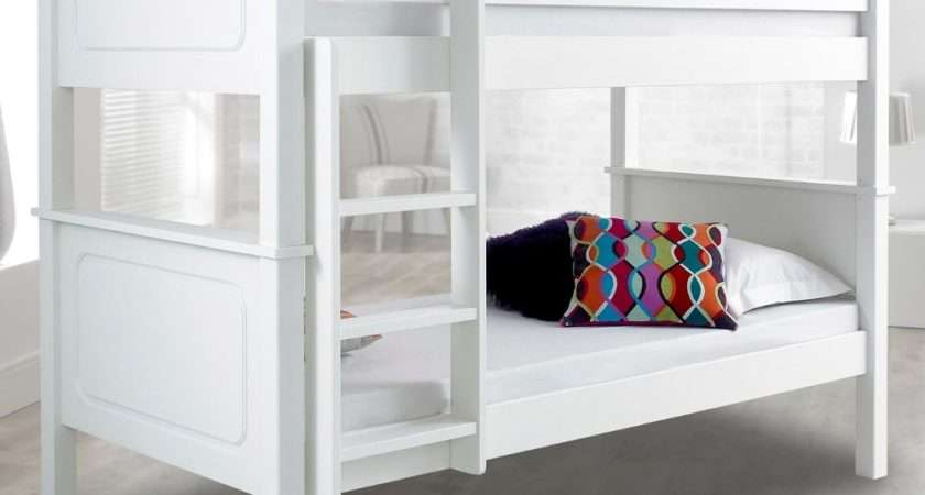 Vancouver White Finish Solid Pine Wooden Bunk Bed