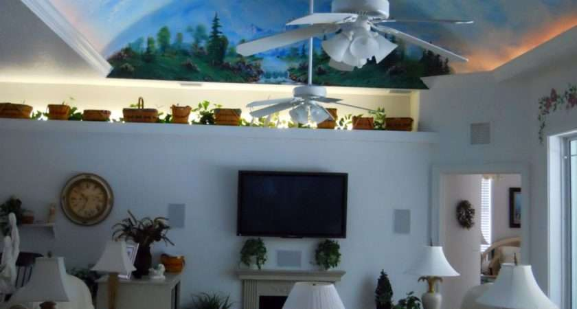 Vaulted Ceiling Decorating Ideas