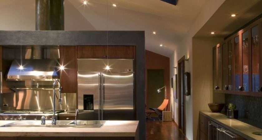 Vaulted Ceiling Lighting Ideas Skylights Recessed Modern Home