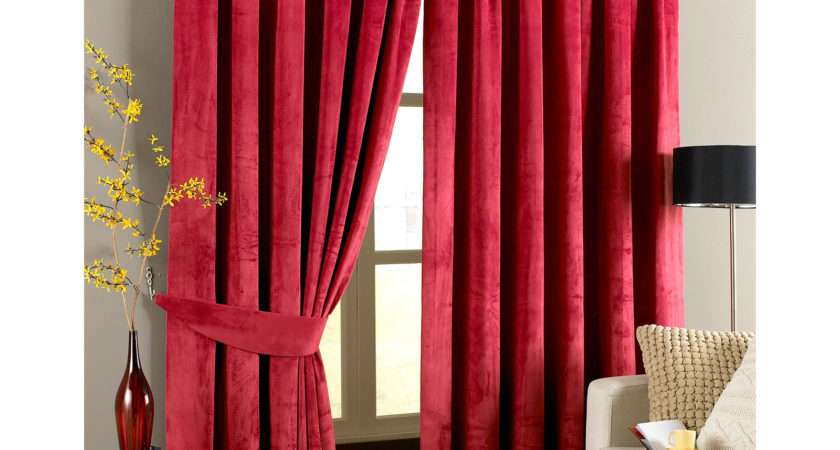 Velvet Pencil Pleat Curtains Ready Made Fully Lined