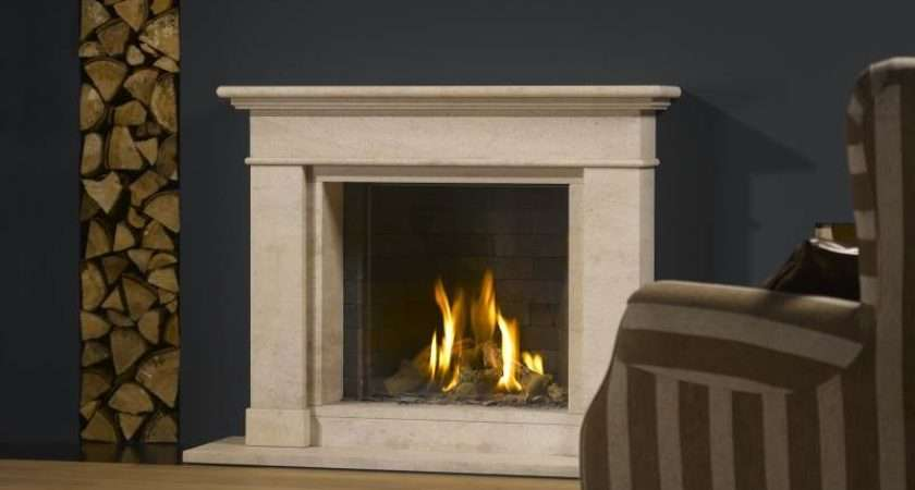 Vento Classic Small Stoke Gas Electric Fireplace Centre