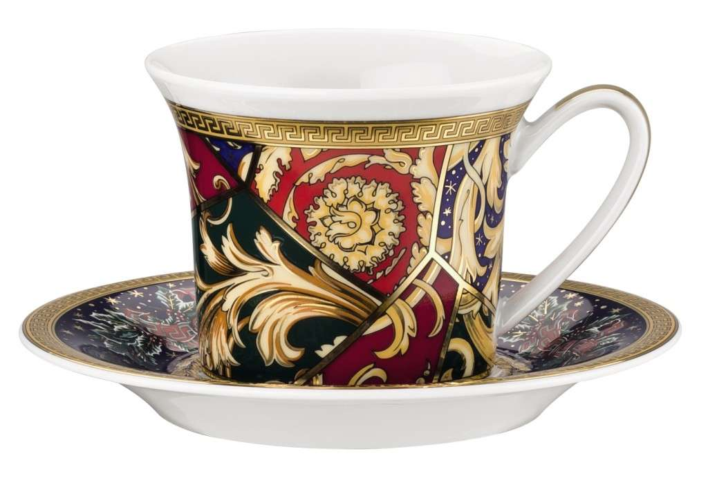 Versace Barock Christmas Espresso Cup Saucer Lowest Price