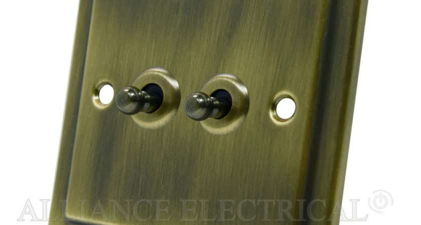 Victorian Antique Brass Toggle Switch