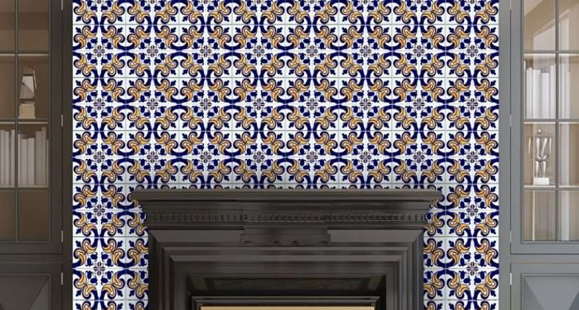 Victorian Fireplace Tile Stickers