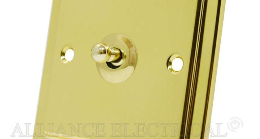 Victorian Polished Brass Toggle Switch