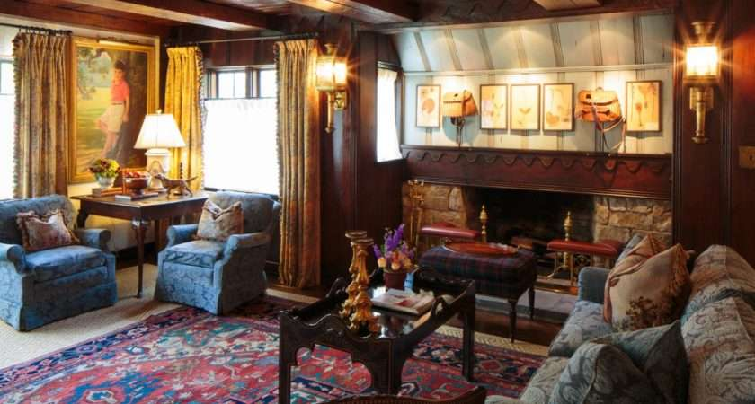 Victorian Sitting Room Cozy Fireplace Comfy Has