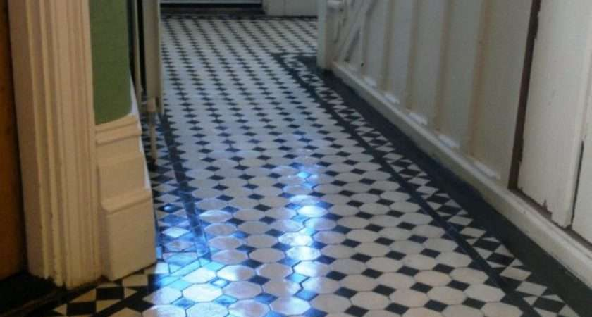 Victorian Tiled Hallway Cleaned Sealing Portsmouth