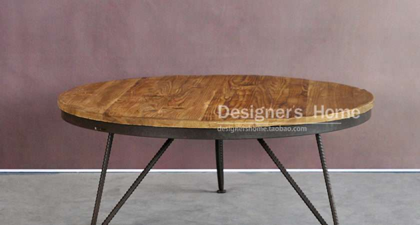 Village French Rustic Retro Furniture Aidi Wei Iron Coffee Table