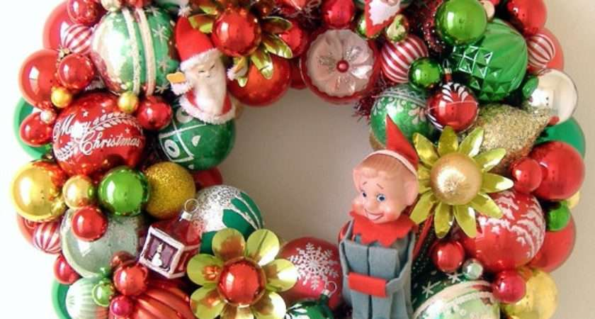 Vintage Christmas Decorations Wreaths Boutique