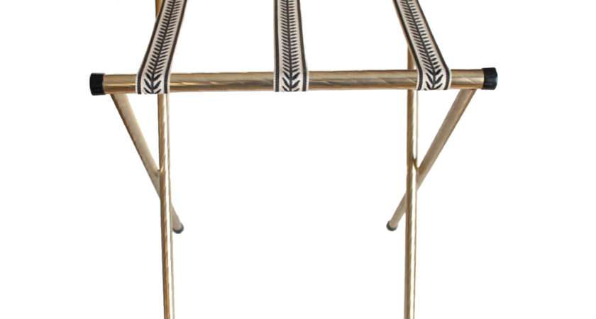 Vintage Gold Brass Folding Luggage Rack Stand Haute Juice