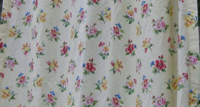 Vintage Laura Ashley Long Drapes Monetsattic Etsy
