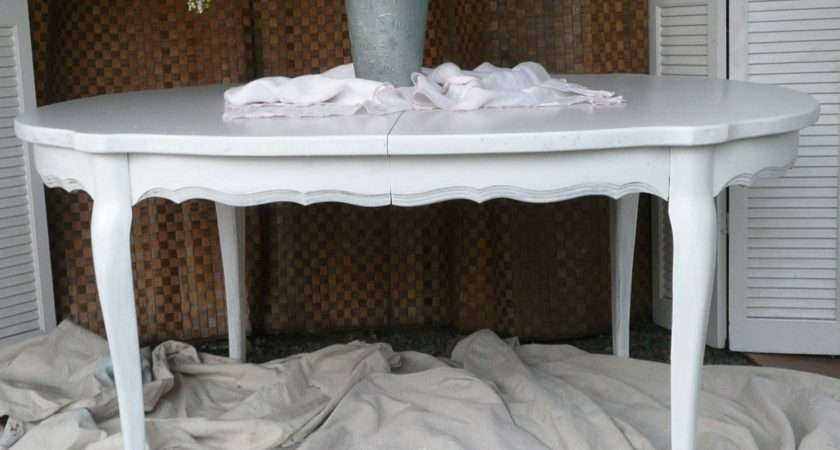 Vintage Painted Shabby Chic Dining Table White