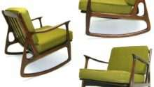 Vintage Rocking Chair Mid Century Danish Modern