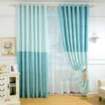 Voile Curtains Children Custom Solid Color