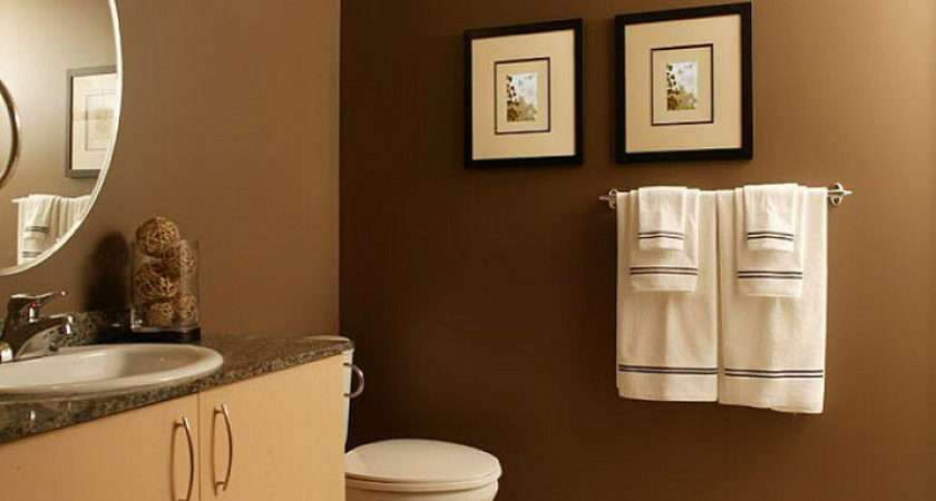 Wall Bold Brown Accent Bathroom Walls Color Combinations Easy Steps