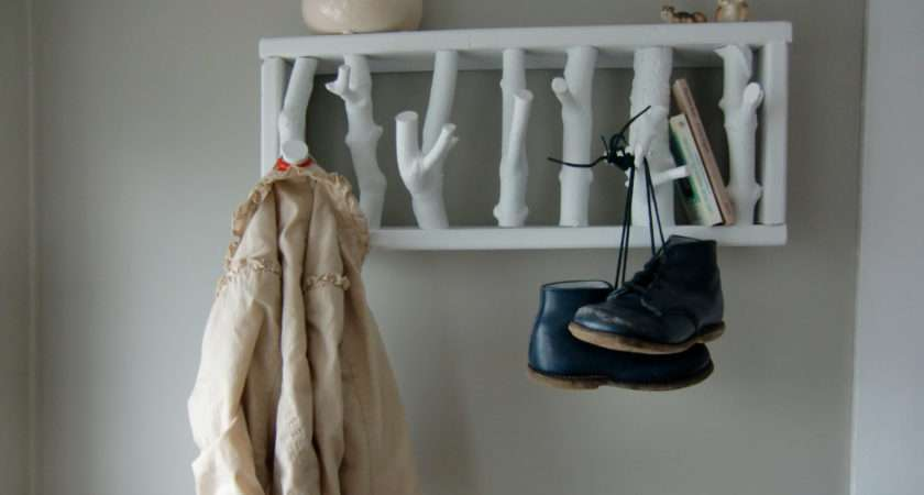 Wall Hooks Bedroom Winsome Pure White Brances Rustic Coat