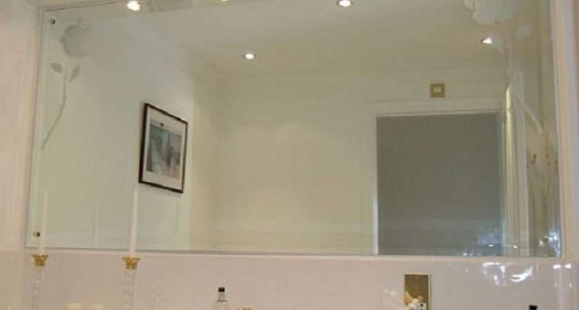 Wall Mirrors Lighted Bathroom Framed Home