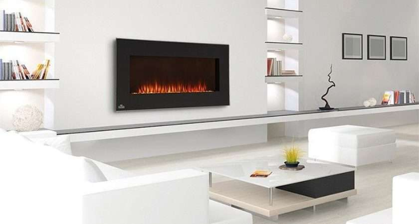 Wall Mounted Electric Fire Place Oversized Slimline Heater Modern Unit