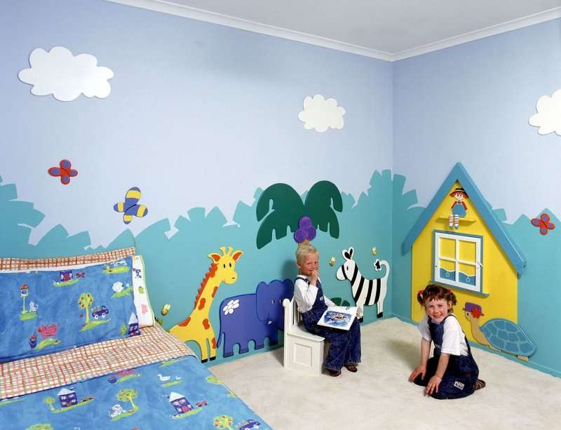 Wall Painting Kids Bedroom Interior Designing Ideas