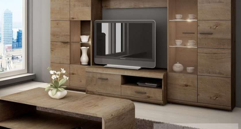 Wall Unit Lena Set Living Room Furniture Piece