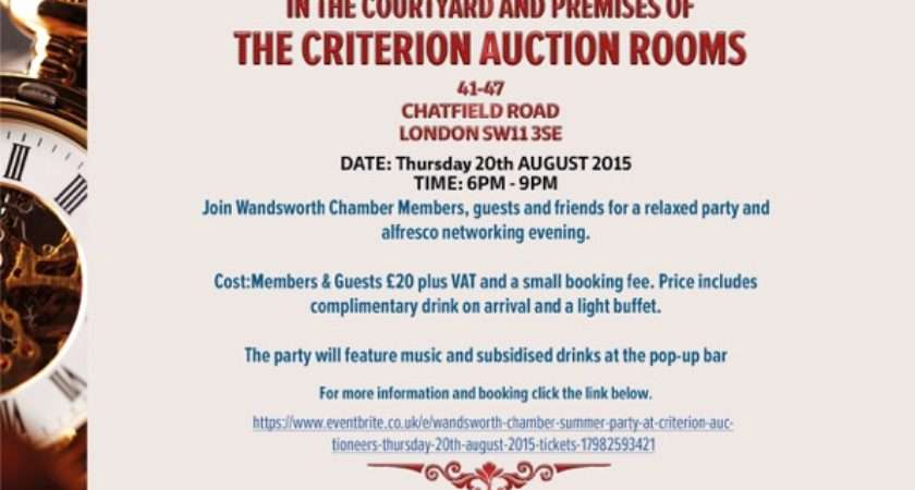 Wandsworth Chamber Summer Party Criterion Auctioneers