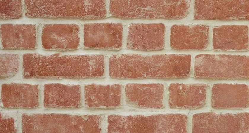 Warehouse Photographic Brick Effect Red