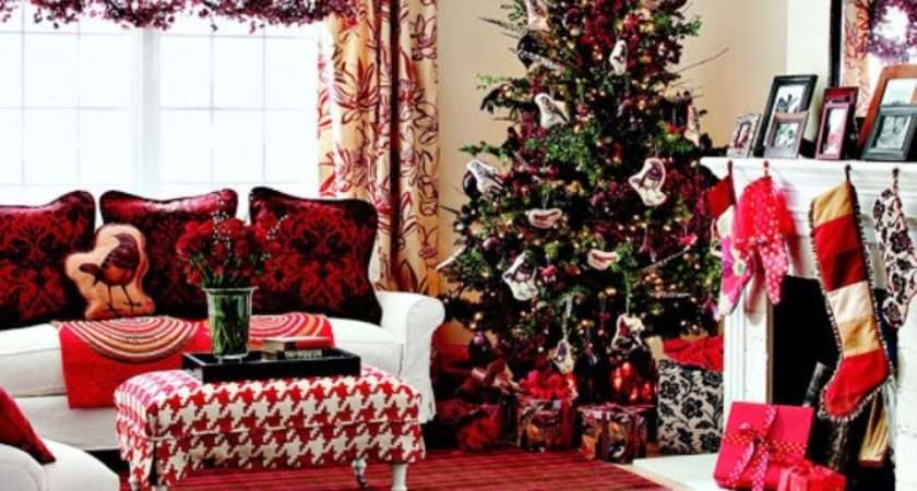 Watching Christmas Films Being Surrounded Beautiful Decorations