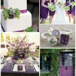 Wedding Color Palette Idea Green Purple
