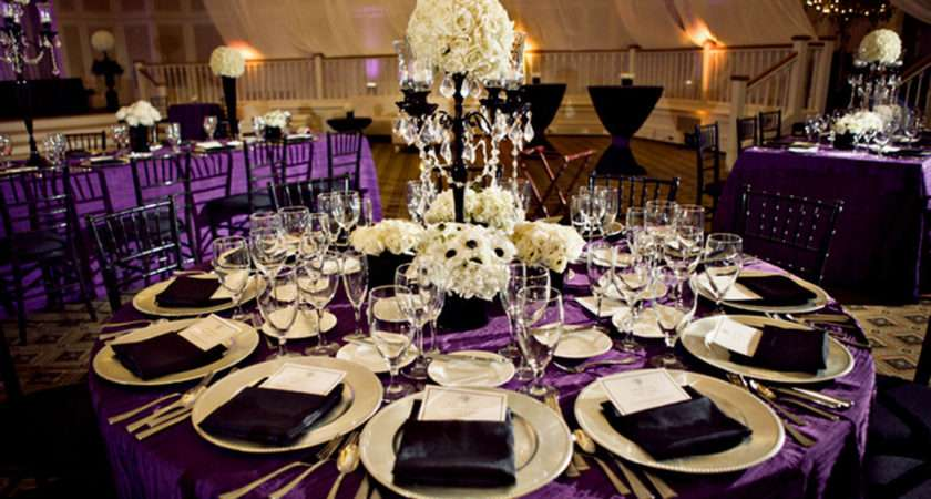Wedding Table Decorations Purple Green Archives