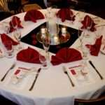 Wedding Table Decorations Red Black White Reception