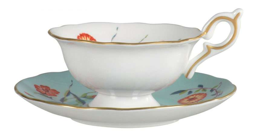 Wedgwood Harlequin Collection Turquoise Crocus Teacup Saucer